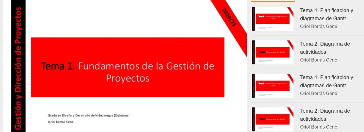 Apuntes para la asignatura Gestión y Dirección de Proyectos