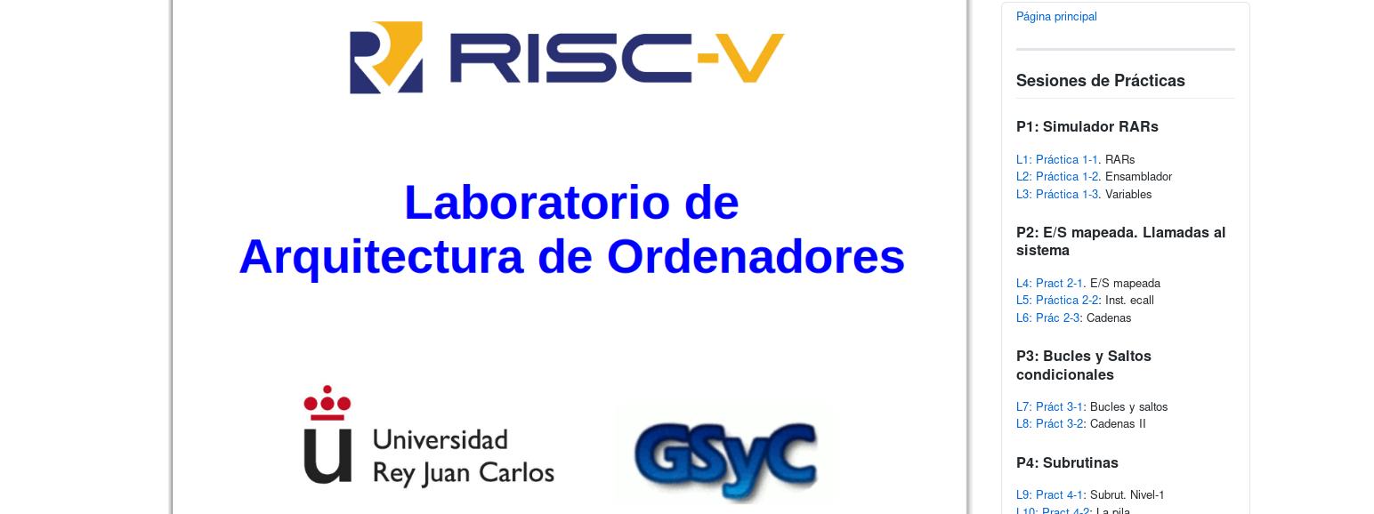 RISC-V: Laboratorio de Arquitectura de Ordenadores