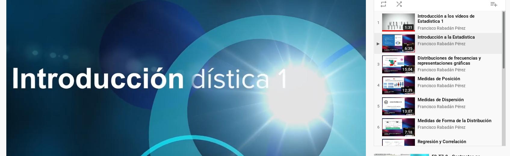 Apuntes de Estadística 1 (Vídeo-clases)